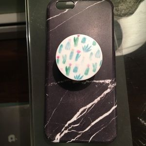 iPhone 6/6s case with cactus popsocket